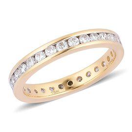 Web Exclusive- ILIANA 18K Y Gold IGI Certified Diamond (Rnd) (SI/ G-H) Full Eternity Band Ring 1.000 Ct.