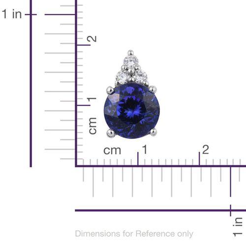 RHAPSODY 950 Platinum AAAA Tanzanite (Rnd 1.90 Ct), Diamond Pendant 2.000 Ct.