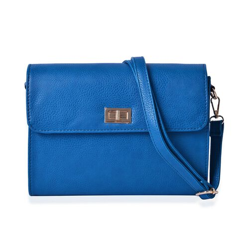 Marylebone Classic Deep Turquoise Colour Crossbody Bag with Adjustable and Removable Size (Size 27x20x9 Cm)