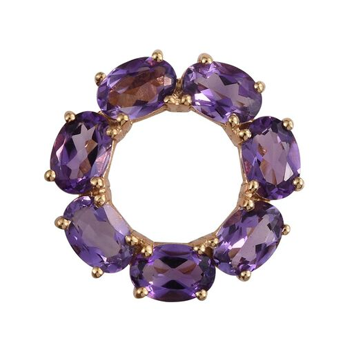 Amethyst (Ovl) Circle of Life Pendant in 14K Gold Overlay Sterling Silver 2.750 Ct.