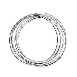 Stackable Bangle in Silver Tone (Size 7.5)
