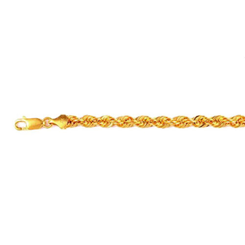 JCK Vegas Collection 22K Yellow Gold Rope Chain Size 20 Inch, 10.00 Gms.