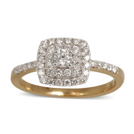 ILIANA 18K Y Gold IGI Certified Diamond (Rnd) (SI/G-H) Ring 0.500 Ct.