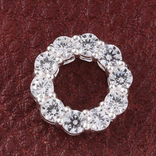 J Francis - Sterling Silver (Rnd) Circle of Life Pendant Made with SWAROVSKI ZIRCONIA