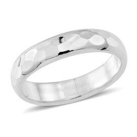 Thai Sterling Silver Diamond Cut Band Ring, Silver wt 4.22 Gms.