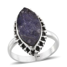 Tanzanite (Mrq) Ring in Sterling Silver 12.680 Ct.
