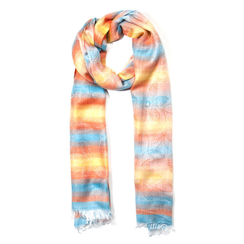 Stripy Pattern Multi Colour Scarf (Size 180x70 Cm)