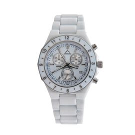 Monchic Diamond Steel Mix Metal Watch  0.005  Ct.