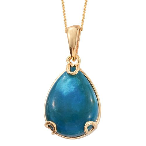 Opalina (Pear) Solitaire Pendant With Chain in 14K Gold Overlay Sterling Silver 6.500 Ct.
