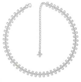LucyQ Mini Splash Necklace (Size 20) in Sterling Silver 27.00 Gms.