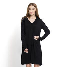 Black Colour Free Size Versatile Knit Cardigan (Large Size)