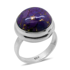 Royal Bali Collection Mojave Purple Turquoise (Rnd) Solitaire Ring in Sterling Silver 9.000 Ct.
