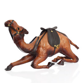 Made in India -  Handmade with Genuine Leather  Sitting Camel Ornament