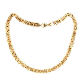 Vicenza Collection 9K Y Gold Byzantine Bracelet (Size 8.5), Gold Wt. 8.19 Gms.