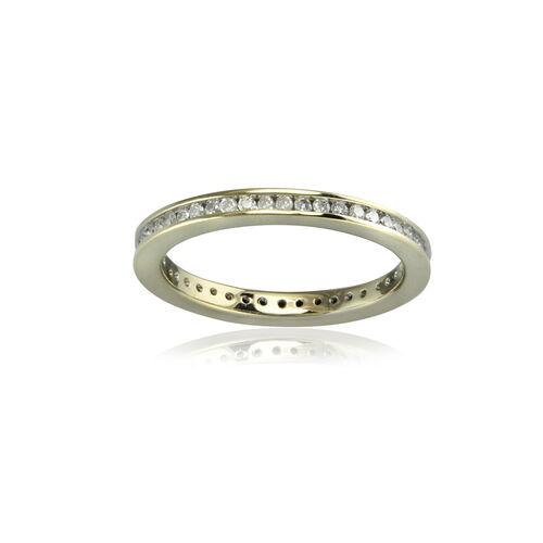Half Carat SGL Certified Diamond Channel Set Eternity Ring In 9K Yellow Gold