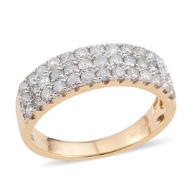 New York Close Out Deal - 14K Y Gold Diamond (Rnd)  (I2/G-H)  Ring 1.020 Ct.
