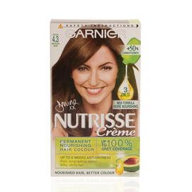 Garnier Nutrisse Cappuccino 4.3 Dark Golden Brown Permanent Hair Dye