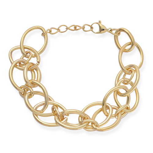 Bracelet in ION Plated Yellow Gold Stainless Steel (Size 8 with 1 Inch Extender)