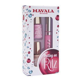 (Option 2) MAVALA- Putting on the Ritz Lipgloss and 2 polish Quickstep