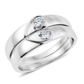RHAPSODY 950 Platinum 0.25 Carat IGI Certified Diamond VS/E-F 2 Ring Set