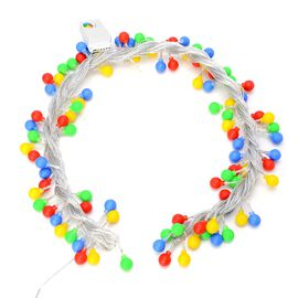 Multi Colour 100 LED Round Bulbs Light String with Switch (Size 10 metres)