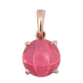 9K R Gold Pink Ethiopian Opal (Rnd) Solitaire Pendant 1.000 Ct.