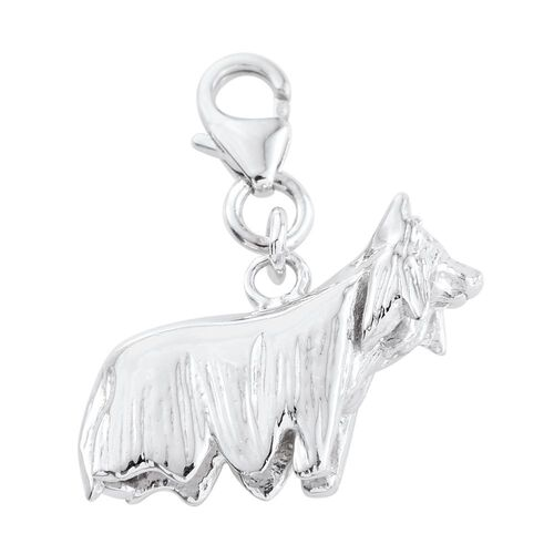 Platinum Overlay Sterling Silver Charm, Silver wt 5.89 Gms.