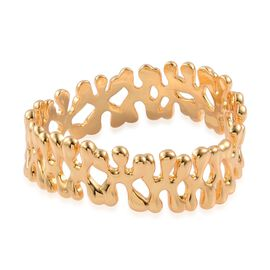 LucyQ Splat Bangle in 14K Gold Overlay Sterling Silver (Size 7 / Small), Silver wt 60.83 Gms.