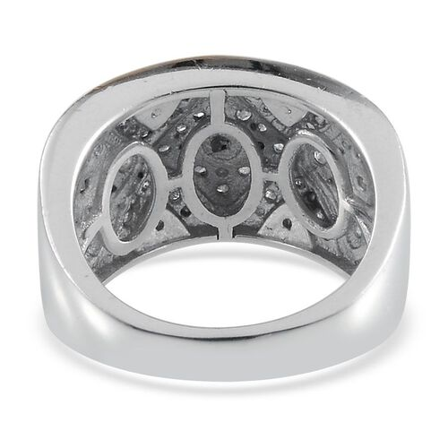 Diamond (Rnd) Ring in Platinum and Yellow Gold Overlay Sterling Silver 0.330 Ct.