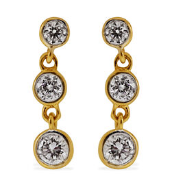 ILIANA 18K Y Gold IGI Certified Diamond (Rnd) (SI/ G-H) Earrings (with Screw Back) 0.500 Ct.