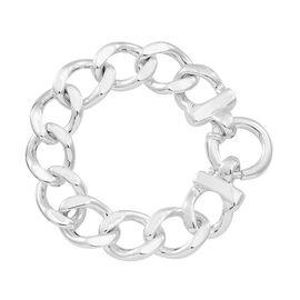 Thai Sterling Silver Curb Bracelet (Size 7.5), Silver wt 21.40 Gms.