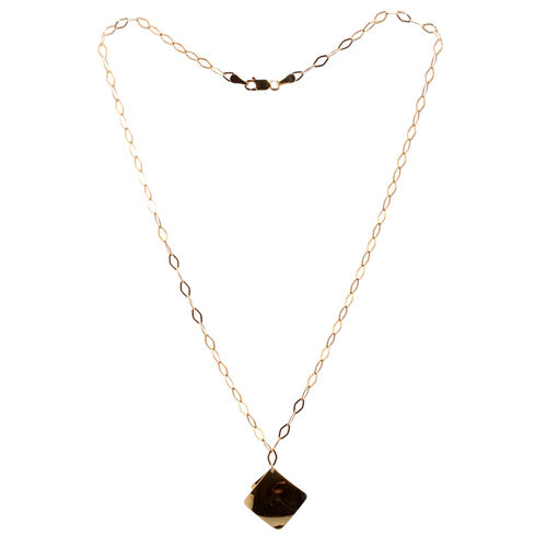 Close Out Deal 14K Gold Overlay Sterling Silver Necklace (Size 18), Silver wt 4.90 Gms.