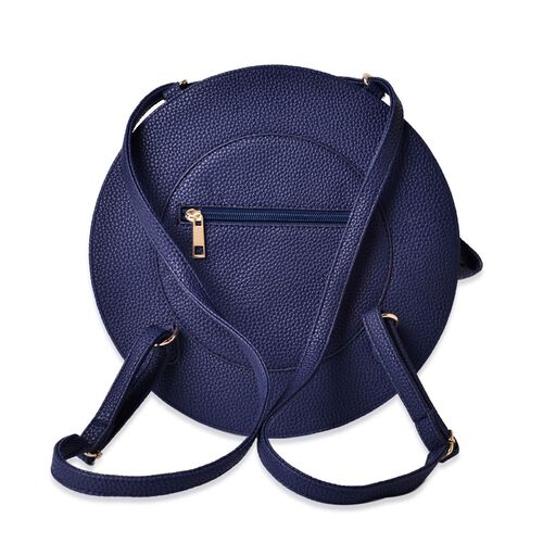 Navy Colour Crossbody Bag with Adjustable Shoulder Strap for use as back pack (Size 27.5x17x7 Cm)