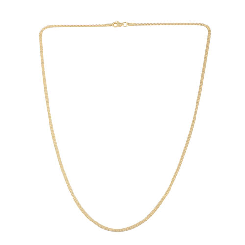 Close Out Deal 14K Gold Overlay Sterling Silver Chain (Size 18), Silver wt 3.40 Gms.
