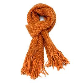 Orange Colour Scarf (Size 130x35 Cm)