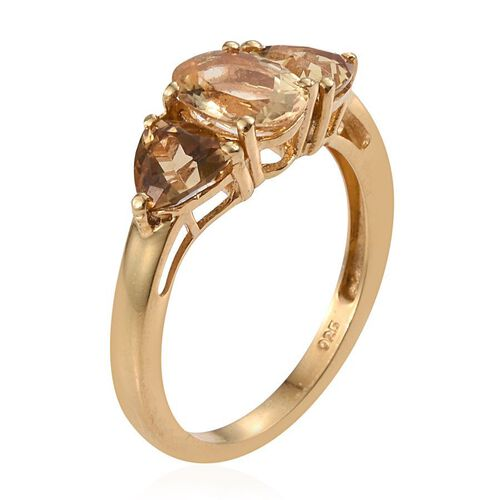 Marialite (Ovl 1.10 Ct) Ring in 14K Gold Overlay Sterling Silver 2.250 Ct.