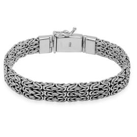 Royal Bali Collection Sterling Silver Handmade Borobudur Bracelet (Size 7), Silver wt 37.40 Gms.