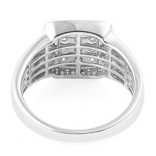 ILIANA 18K White Gold 1 Carat Cluster IGI Certified Diamond SI/G-H Ring
