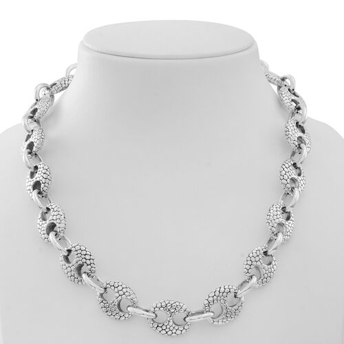 Designer Inspired Chunky Sterling Silver Anchor Link Necklace (Size 20), Silver wt 61.10 Gms.