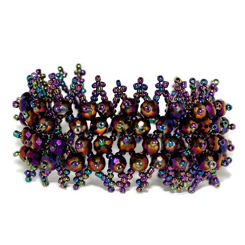 Tucson Treasures Multi Colour Glass Beaded Carpet Bracelet