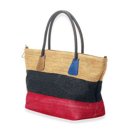 Multi Colour Hand Bag (Size 23x12.4x8 inch)