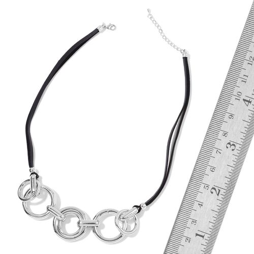 Modern Minimalist Fashion Inspired Necklace (Size 23) in Silver Tone