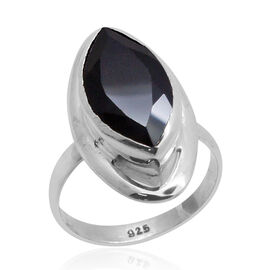 Royal Bali Collection Boi Ploi Black Spinel (Mrq) Solitaire Ring in Sterling Silver 6.000 Ct.