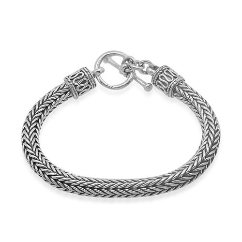 Royal Bali Collection Sterling Silver Tulang Naga Bracelet (Size 7), Silver wt 34.53 Gms.