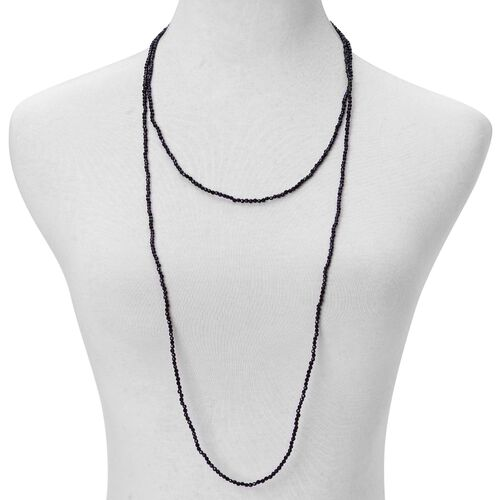 Black Agate Necklace (Size 60) 94.000 Ct.
