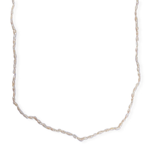 White Keshi Pearl Necklace (Size 62)