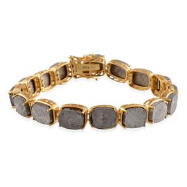 Meteorite (Cush) Bracelet in 14K Gold Overlay Sterling Silver (Size 7.5) 109.250 Ct.