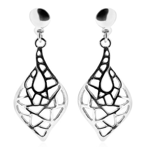 Thai Sterling Silver Filigree Earrings (with Push Back), Silver wt 4.00 Gms.