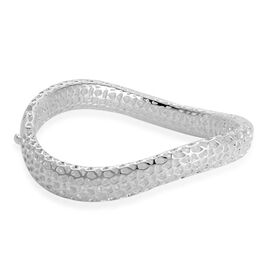 RACHEL GALLEY Sterling Silver Allegro Wave Bangle (Size 7.25), Silver wt 28.37 Gms.