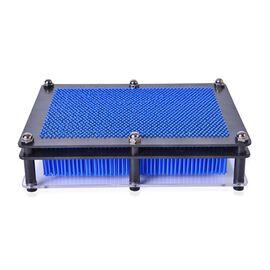 Home Decor - Blue Colour Pin Art Impression Toy (Size 20x15x2 Cm)